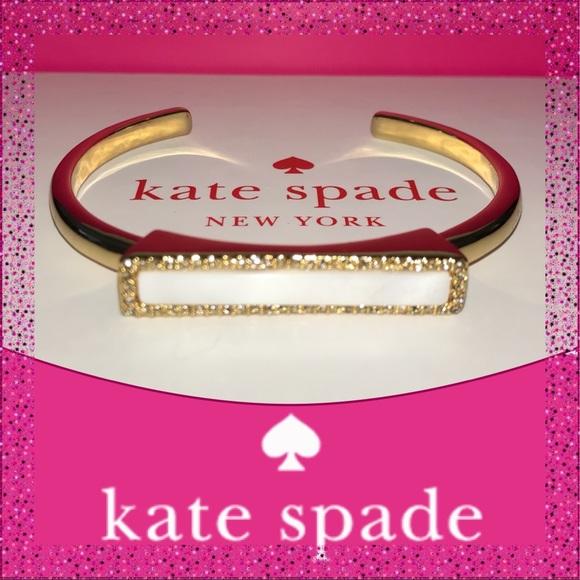 Take 40% Off Kate Spade ♠️ Gold Bar Bracelet NWTs